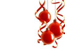 czerwoni piłek boże narodzenia ilustracji