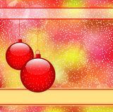 czerwoni piłek boże narodzenia Zdjęcie Stock