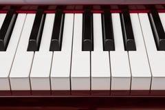 Czerwoni pianino klucze fotografia stock