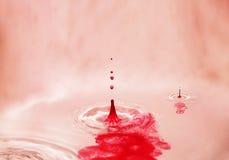czerwoni pluśnięcia Obraz Royalty Free
