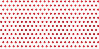 Czerwoni polek kropek okregów obwody na bezszwowym nieskończonym wzorze przeciw białemu opróżniają astronautyczną tło teksturę ilustracji