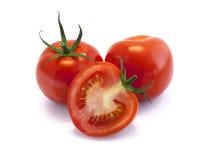 Czerwoni pomidory odizolowywający na białym tle Zdjęcie Royalty Free
