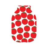Czerwoni pomidory w banku, drawin Obraz Royalty Free