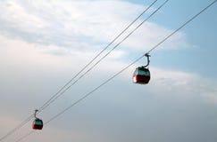 Czerwoni powietrzni tramwaje Zdjęcie Stock