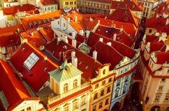 Czerwoni Praga dachy Zdjęcie Royalty Free