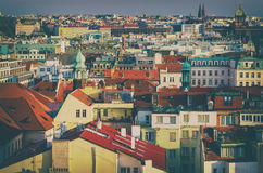 Czerwoni Praga dachy Zdjęcie Stock