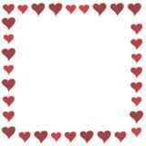 czerwoni ramowi kreskówek serca Obraz Stock