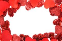 czerwoni ramowi serca Obrazy Stock