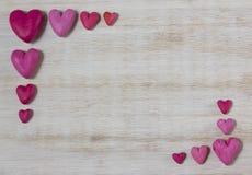 czerwoni ramowi serca Zdjęcia Stock