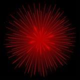 Czerwoni realistyczni fajerwerki Obraz Royalty Free
