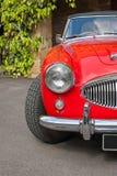 Czerwoni retro samochodów szczegóły Obrazy Royalty Free