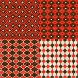 Czerwoni rodowitych amerykan wzory Zdjęcie Royalty Free