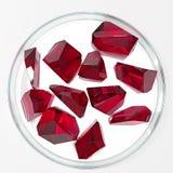 Czerwoni rubiny na białym tle Zdjęcie Stock