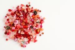 Czerwoni rzemiosło koraliki Zdjęcia Stock