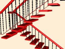 czerwoni schodki Zdjęcie Stock