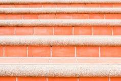 czerwoni schodki Fotografia Stock