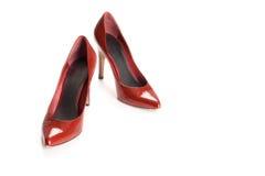 czerwoni seksowni buty Obrazy Royalty Free