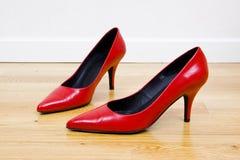 czerwoni seksowni buty fotografia royalty free