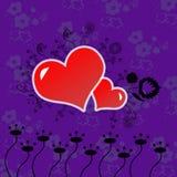 Czerwoni serca zdjęcia stock