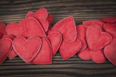 Czerwoni serca Fotografia Stock