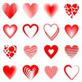 Czerwoni serca ilustracja wektor