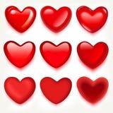Czerwoni serca. royalty ilustracja