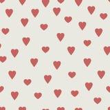 Czerwoni serca, bezszwowy wektoru wzór ilustracji