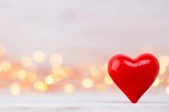 Czerwoni serca bokeh tło dodać dni walentynki tła formatu wektora Obrazy Stock