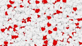 Czerwoni serca pojawiać się na wakacyjnym tle Zapętlająca 4K ruchu grafika dla walentynka dnia, matka dzień, poślubia ilustracji