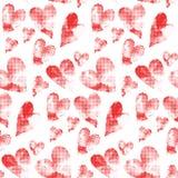 Czerwoni serca robić od wiele round kropek Zdjęcia Stock