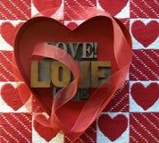 Miłość serca i słowa Obraz Stock