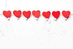 Czerwoni serca z rzędu Obraz Stock