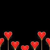 czerwoni tło serca Fotografia Royalty Free