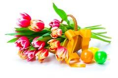Czerwoni tulipanów kwiaty Zdjęcia Stock