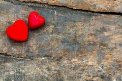 Czerwoni valentine serca Zdjęcia Royalty Free