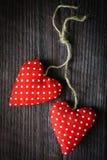 Czerwoni valentine serca Zdjęcie Royalty Free