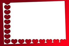 Czerwoni valentines serca Ilustracja Wektor