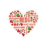 Czerwoni warzywa i owoc royalty ilustracja