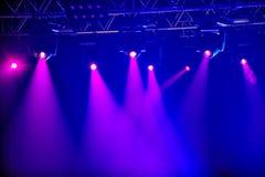 Czerwoni scen światła reflektorów Obraz Royalty Free