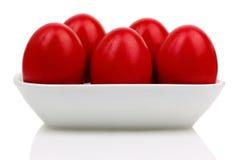 Czerwoni Wielkanocni jajka Obraz Royalty Free