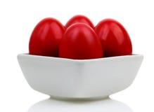 Czerwoni Wielkanocni jajka Obrazy Royalty Free
