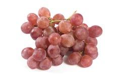 Czerwoni winogrona nad białym tłem. Zdjęcia Royalty Free