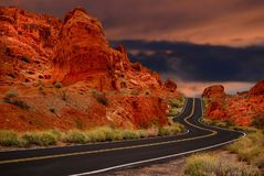 Czerwoni wzgórza w dolinie ogień, Nevada obrazy royalty free