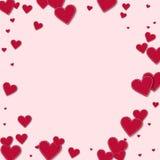 Czerwoni zaszyci papierowi serca Zdjęcie Royalty Free