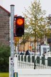 Czerwoni zwyczajni światła ruchu z emoji Zdjęcie Stock