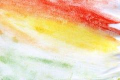 Czerwony Żółtej zieleni guasz Zdjęcie Royalty Free
