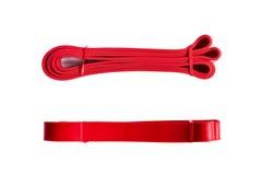 Czerwony ćwiczenie zespół dla sprawności fizycznej od dwa perspektyw Obraz Royalty Free
