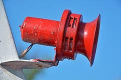 Czerwony łódkowaty róg Obraz Royalty Free