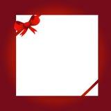 Czerwony łęk i biały papier Obrazy Royalty Free