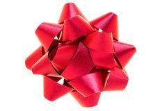 Czerwony łęk islolated na białym tle. Zdjęcie Stock